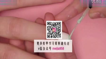 粉色美甲图片7美甲培训学习资料(14)7学美甲哪里好
