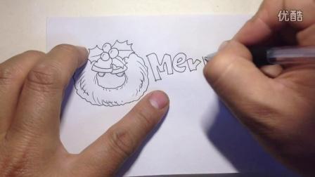 圣诞节使用.手绘POP艺术字体2
