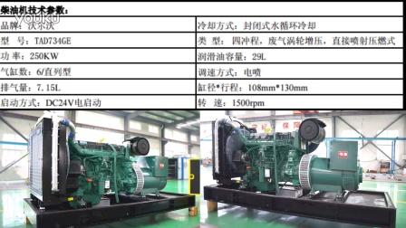 200千瓦kw沃尔沃发电机价格报价 发动机详细参数 发电机详细参数一览表