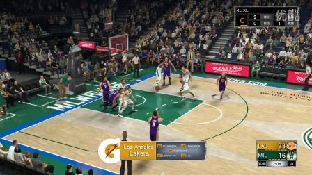 【小流篮球解说】NBA2K17 对雄鹿,易建联这场表现很亮眼
