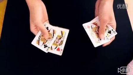 魔术教学 教父表演消失的queen