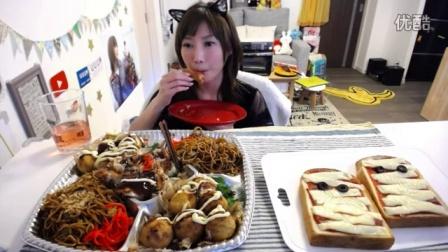 木下祐嘩现场烹饪 万圣节木乃伊披萨+小吃拼盘烤面包