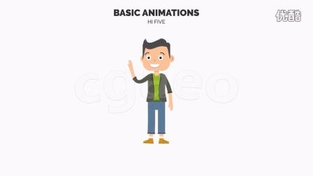 卡通人物形象动画场景设计AE模板 Character Maker - Explain