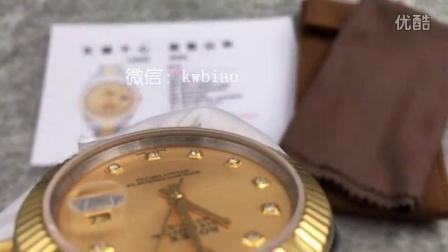 视频:外观展示,长荣厂劳力士包金表系列,41尺寸,瑞士2836机芯,3珠表带