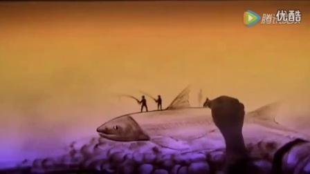 《三条鱼的故事》美丽沙画