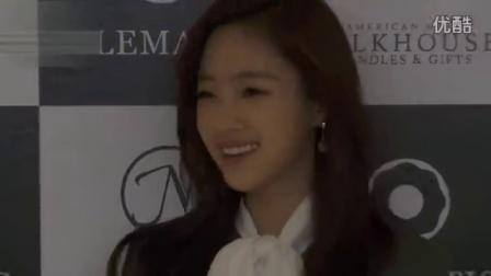 恩静孝敏参加某品牌在首尔举行上市活动