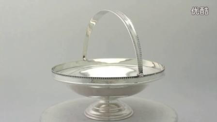 純銀蛋糕/水果籃 - 古董喬治五世 - A3430