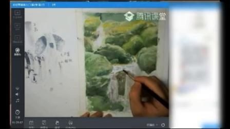 【水彩基础】水彩风景写生教程-水与石