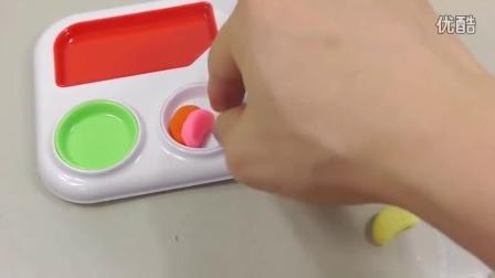 DIY培乐多颜色冰淇淋蛋糕玩具食玩