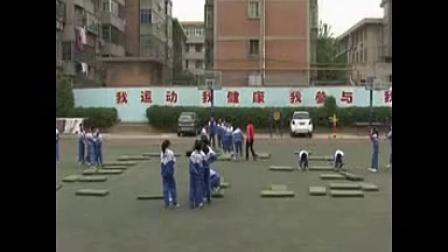 西安市长安区南街小学五年级体育《分腿腾空--跳山羊》视频课