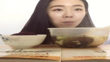 CB【吃播小花】日常吃播~自制冒菜+紫薯