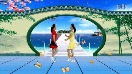 红领巾蝶舞芳香广场舞《走过咖啡屋》双人对跳 编舞丽萍老师