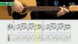 跟着视频学吉他-初学者指弹吉他渐进教程 (31)