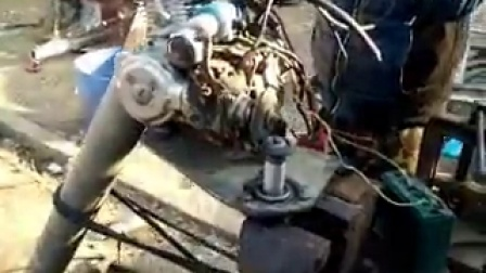 摩托车发动机改船外机,曲轴与螺旋桨转速比改为2比1