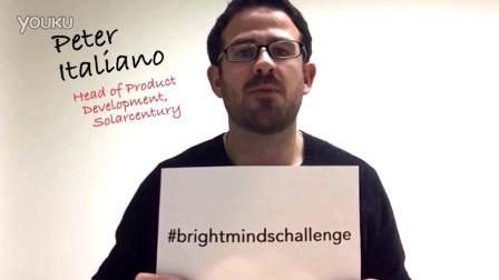 Brightmindschallenge featuring Solarcentury's Peter Italiano