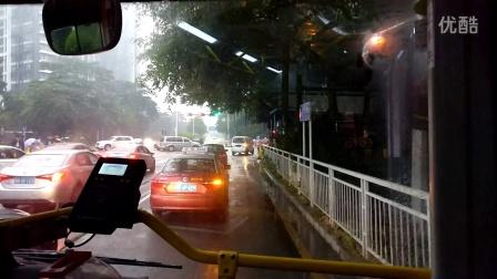 南京金龙NJL6859BEV9纯电动客车上路行车视频(B911线)(2)