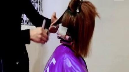曹华烫发教学 内扣烫发造型 商业烫发 短发剪发技巧