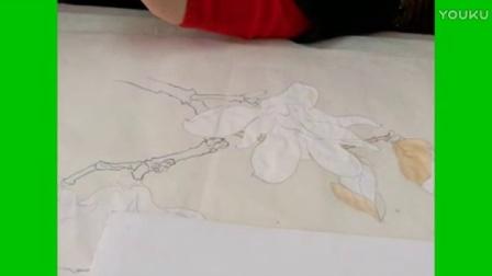 跟乐知轩主(耿老师)学工笔画—玉兰花(1)