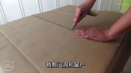 如何给猫咪做个纸板房子