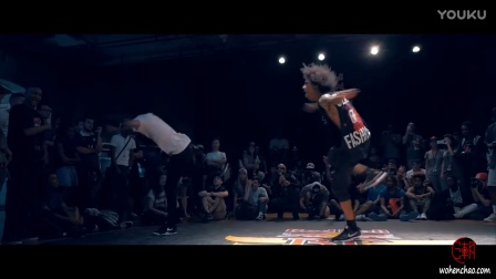 [我很潮] 红牛街舞大赛2016 法国站laurent vs larry (Les Twins)  red bull bc One 斗舞