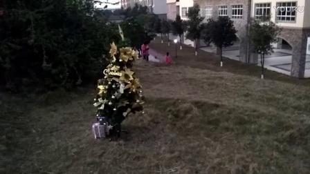 装饰圣诞树!(馨8.5岁,涵6.8岁)