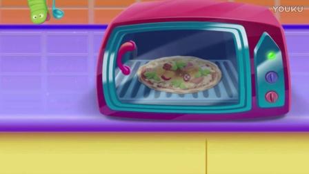 芭比公主的食玩系列★彩色冰淇淋披萨蛋糕表演视频