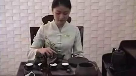 茶道茶艺表演 22 人参茶 紫砂壶 天福茗茶