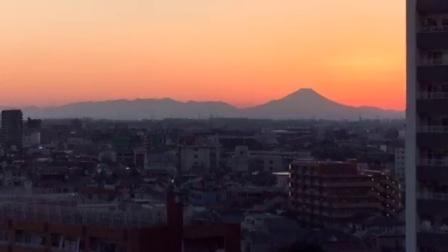 [直播回放]2017年第二天,夕阳下的富士山