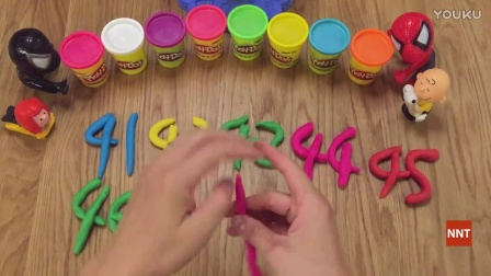 How to make number 1-100 Play Doh 培乐多数字系列 1-100