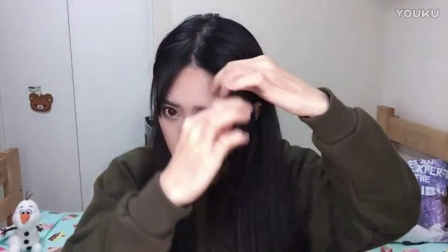 pony眼线视频最新 空气刘海如何斜分与中分 03 韩国化妆技术