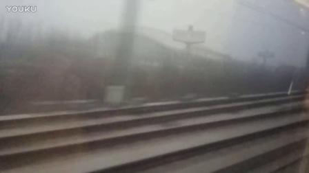 G30次列车跨越德州东站(2017.1.4)