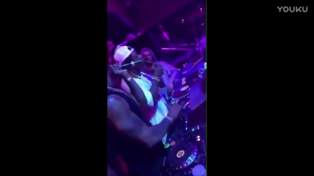 Justin Bieber with Trey Songz & Odell Beckham dancing at LIV NightClub Miami Flo