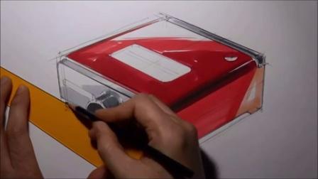 收音机设计手绘