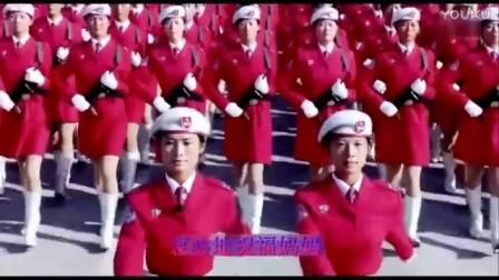 听龚玥天籁《军中绿花》看靓丽女兵阅兵场上的飒爽英姿