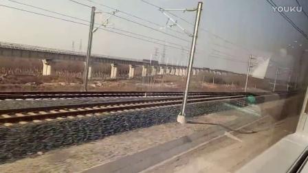 G54次列车济南西站开车(2017.1.10)