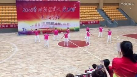 参加贵州省柔力球比赛自编套路《龙里好风光》