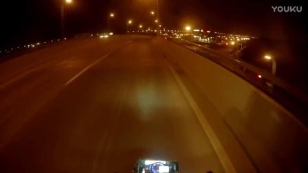 Honda vfr750f night ride