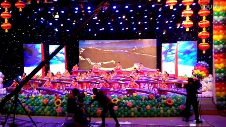 丁丽娜古筝艺术培训学校参加凌源市春节晚会录制。现场视频