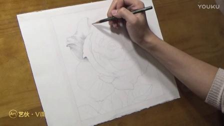 精品素描——玫瑰花2