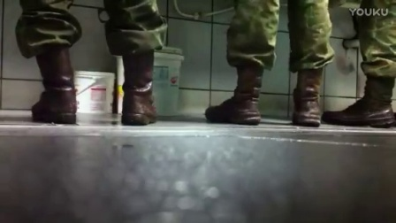 Candid wet army boots