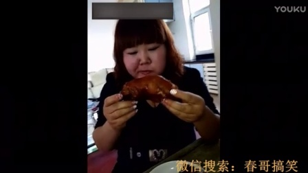 300斤胖姐狂吃大猪脸和猪蹄子