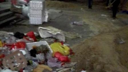 广东省湛江市麻章区太平镇市场霸占市场扰乱市场,恶意乱倒垃圾堵住整个市场出入口