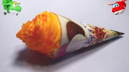 芒果味冰激凌水晶果冻小猪佩奇玩具培乐多橡皮泥冰冻黏土4447