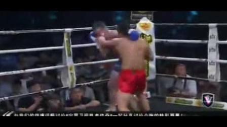 1米6中国猛男KO美国大汉 一脚朝天踹踢爆鼻子