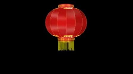 旋转的大红灯笼