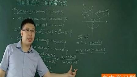高中数学必修四(1)第五讲 三角恒等变形(三)——两角和差的三角函数知识点