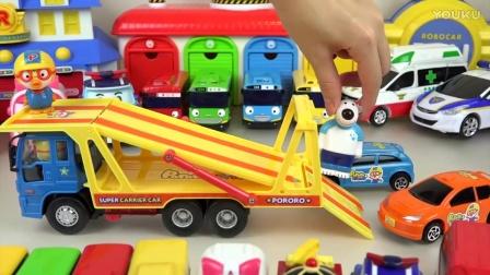 变形警车珀利Robocar Poli车玩具停车塔游戏泰路小巴士玩具