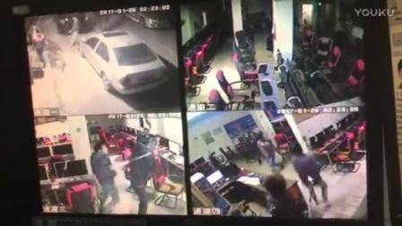 广东省河源龙川黑社会年二十八晚在龙城当街拿长刀砍人