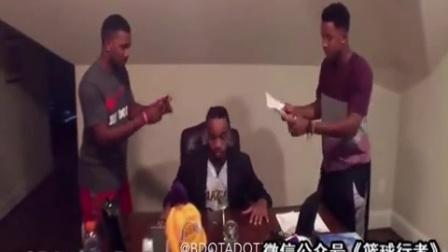 篮球模仿帝神级模仿大鲨鱼奥尼尔,篮球搞笑视频1加农贝克篮球教学