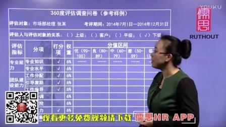 【儒思HR人力资源网】360度考核问卷设计